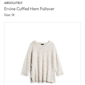 Absolutely cuffed chunky sweater, 1X NWOT